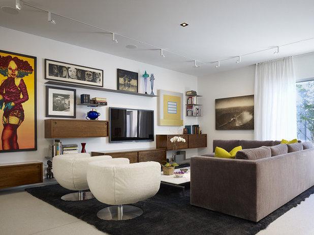 コンテンポラリー リビング by Wheeler Kearns Architects