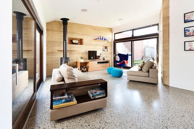 コンテンポラリー リビング by Steffen Welsch Architects