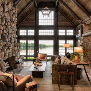 Idéer för att renovera ett rustikt vardagsrum