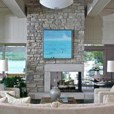 Modern Living Room by J Visser Design