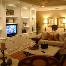Traditional Living Room by MR Interior Design