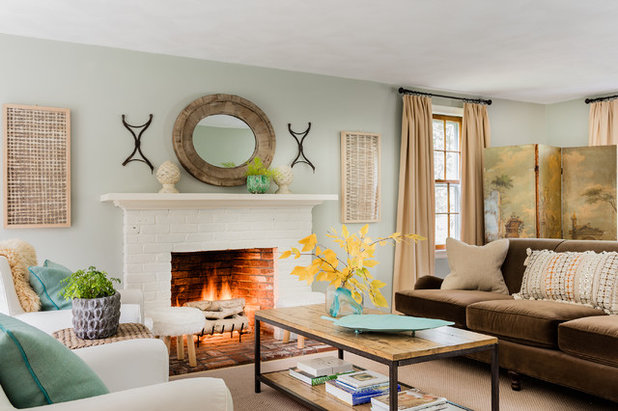 Eclectic Living Room by KT2 Design Group