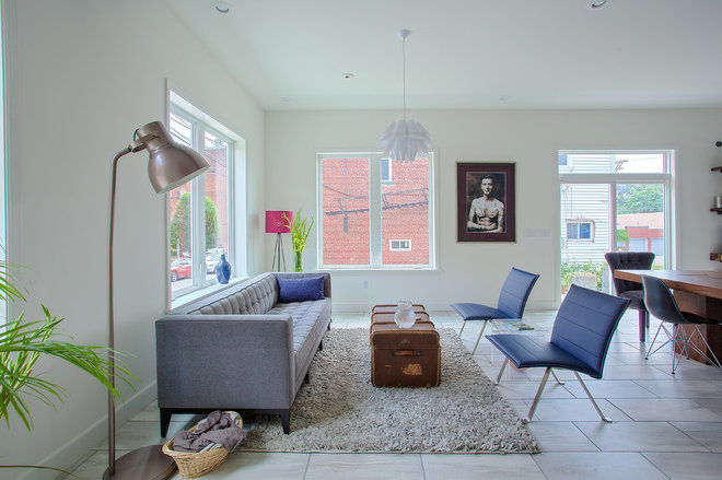Transitional Living Room by EcoCraft Homes