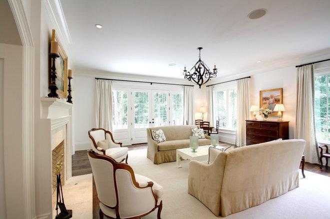 Traditional Living Room by Castro Design Studio
