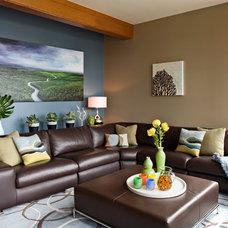 Contemporary Living Room by Sam Van Fleet Photography
