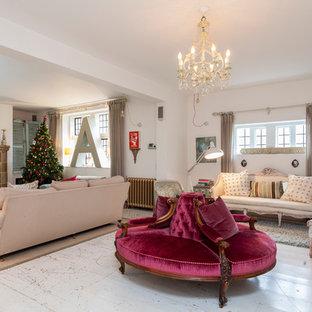 Elegant living room photo in London