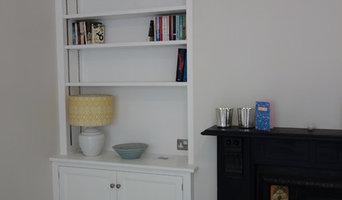 Norwich Victorian terrace alcove cabinets and bookcases