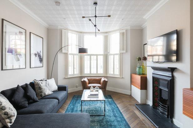 Midcentury Living Room by Honey Bee Interiors
