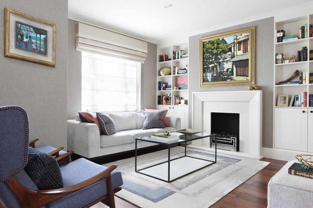 Contemporary Living Room Notting Hill, mid-century refurbishment