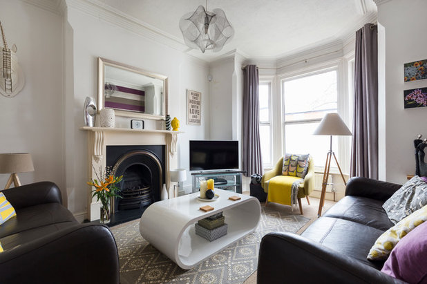 Transitional Living Room by Chris Snook