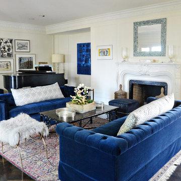 Nouveau Navy Living Room