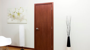 Nova Modern Interior doors by Brooklyn doors inc M34 Sapele
