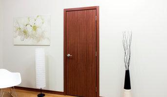 Nova Modern Interior doors by Brooklyn doors inc M34 Sapele