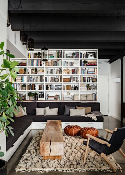 Industrial Living Room by Jessica Helgerson Interior Design