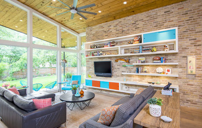 Room of the Day: Empty Nesters Embrace Midcentury Mod in New Great Room
