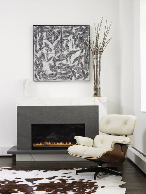 Carrera Marble Fireplace Home Design Ideas, Pictures
