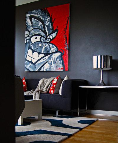 Contemporary Living Room by cky design, inc.