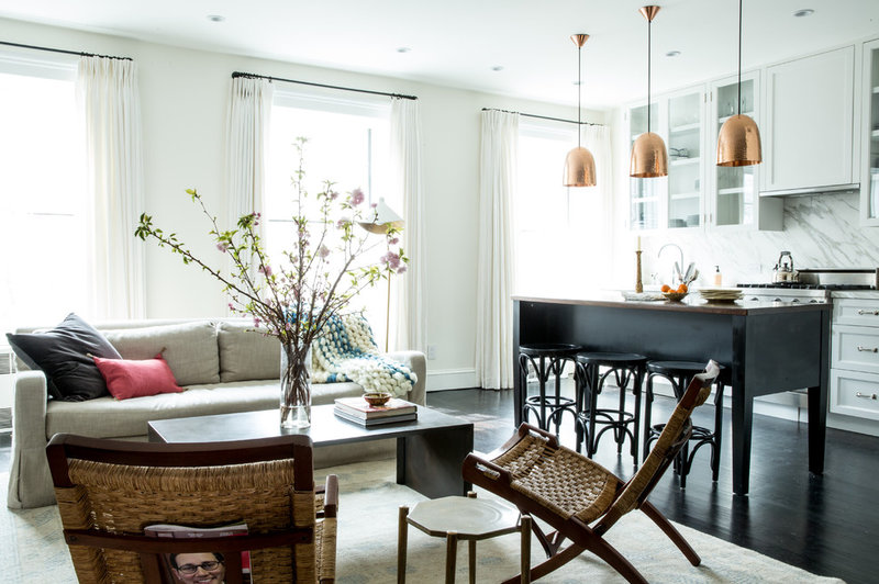 Transitional Living Room NYC Condo