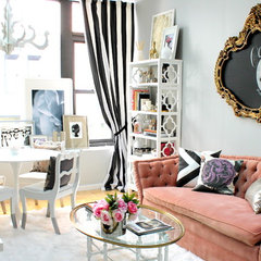 eclectic living room by Nichole Loiacono Design