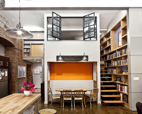 Urban Living Room Library Photo In New York