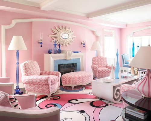 25 Best Contemporary Pink Living Room Ideas & Decoration Pictures ...