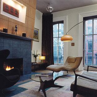 Imagen de salón tipo loft, actual, pequeño