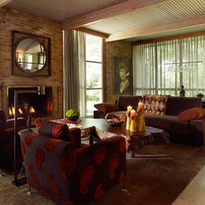 Midcentury Living Room by Bauhaus Custom Homes