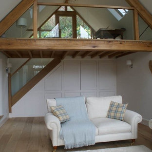 oak and glass extension to house in cotswolds