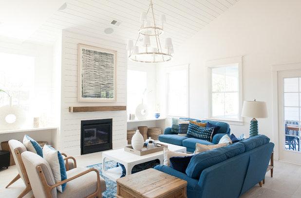Beach Style Living Room by JLV Creative