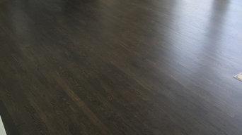 Oak floor refinished - Jacobean/Ebony mix