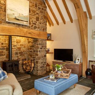 Oak framed thatched roof cottage