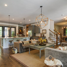 Transitional Living Room by Millworks Designs