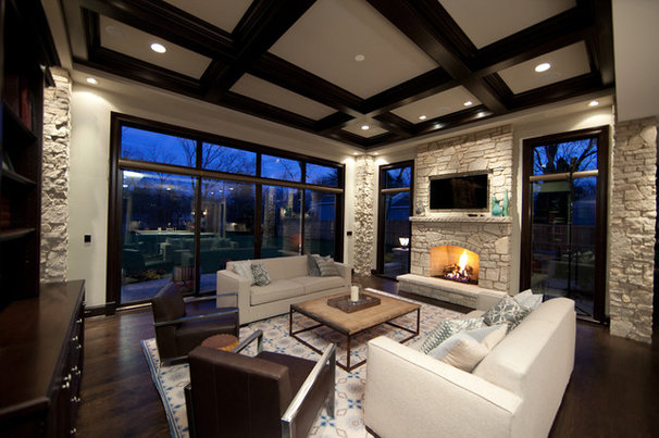 Traditional Living Room by Oakley Home Builders