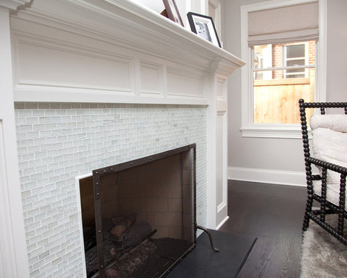 Glass Tile Fireplace Houzz