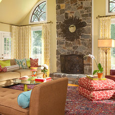 Eclectic Living Room by Rachel Bauer Design LLC