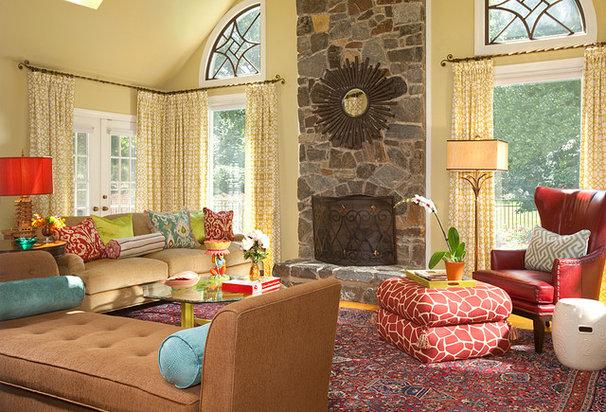Eclectic Living Room by Rachel Bauer Design LLC