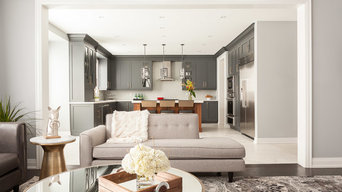 Oakville New Build - Living Room & Kitchen