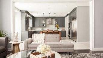 Oakville New Build - Living Room & Kitchen