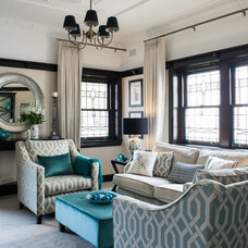 Traditional Living Room by Jodie Carter Design