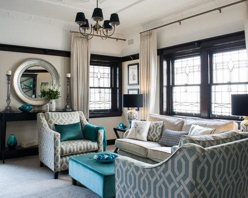 Black and cream living room design ideas renovations photos for Black and cream living room designs