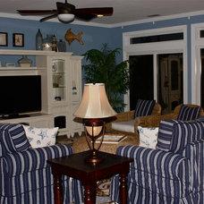 Beach Style Living Room by Jaimie Lyn Interiors
