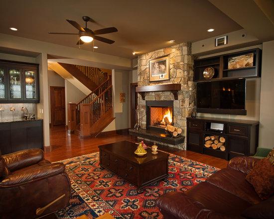 Tv Next To Fireplace Houzz