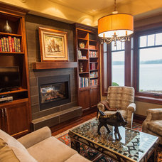 Traditional Living Room by Denise Mitchell Interiors