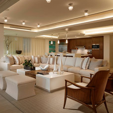 Beach Style Living Room by Interiors by Steven G