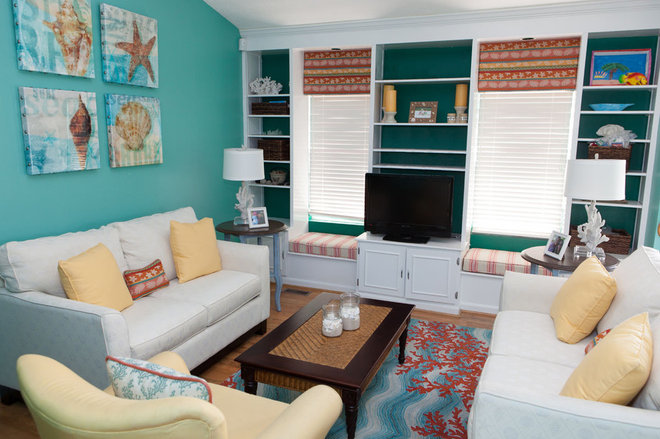 Tropical Living Room by Patty Lustig - Decor & You