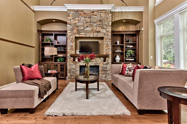 Traditional Living Room by Positive Space Staging + Design, Inc.