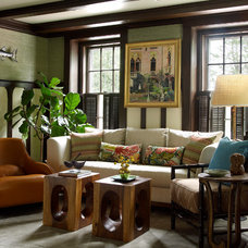 Beach Style Family Room by Digs Design Company