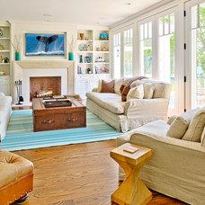 Beach Style Living Room by Bridgehampton Broker