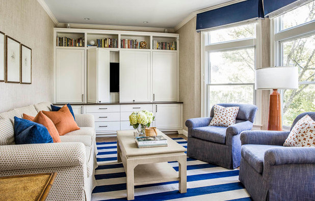 Beach Style Living Room by Kennerknecht Design Group