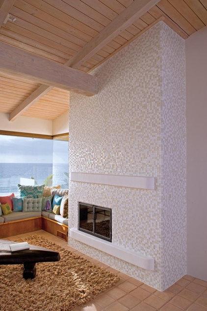 Contemporary Living Room by Oceanside Glasstile